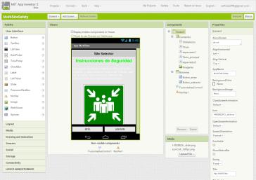 "Crea tu propia app de PRL. importar plantilla 3 - pantalla ""Designer"""